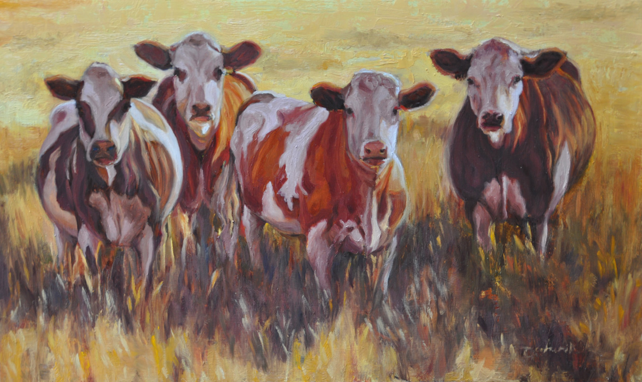 Cow With Glasses Painting