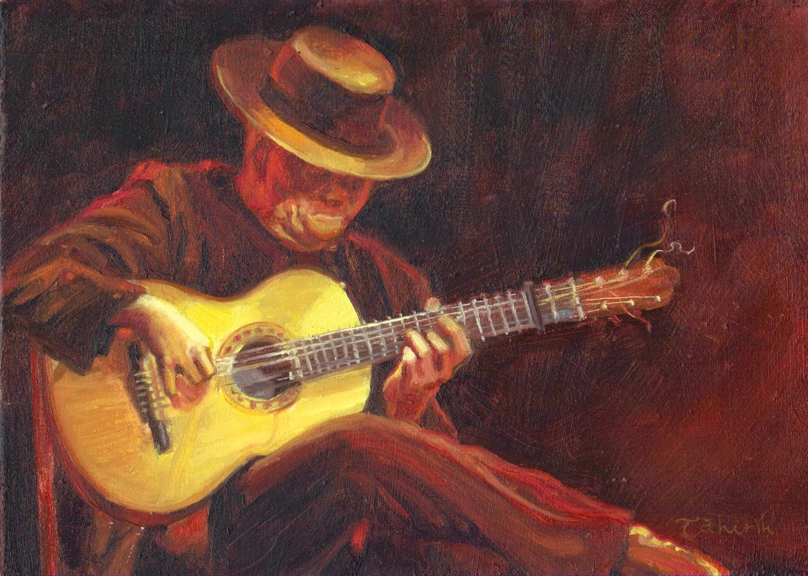 Guitarist Painting classical guitar paint...