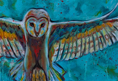 colorful owl small
