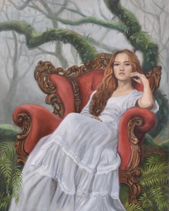 "Danu ~ 24"" x 30"" oil on gallery wrap Copyright Tahirih Goffic, 2021"